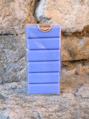 Lot de 6 savons à la lavande, bleus