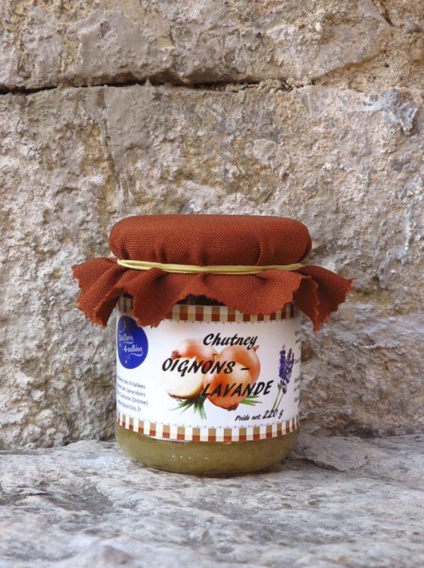 Chutney oignons-lavande - Pot de 220 g