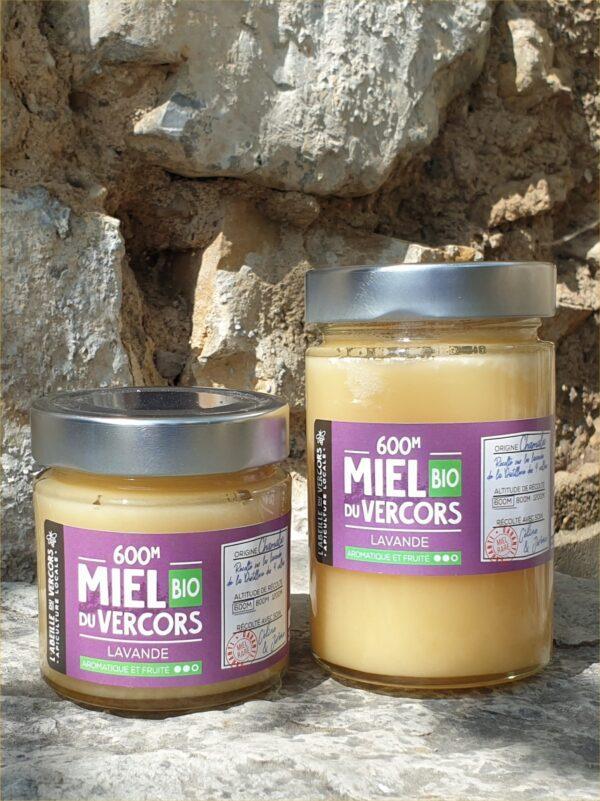 Pot de miel de lavande BIO de 250 g et 400 g