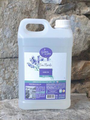 Bidon d'eau florale de lavande fine de 3 litres